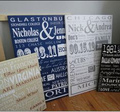 FAMILY ROOM DECOR, unique wedding gift,  20x30 family story, typography wall art, Cotton Anniversary gift