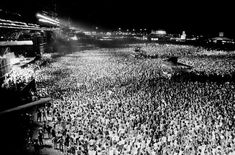 Legendary AC/DC Rock In Rio. Crowd's just starting to gather. 350.000 fans at first Rock in Rio festival. Sadly next year one of the headliners was New Kids on The Block :))