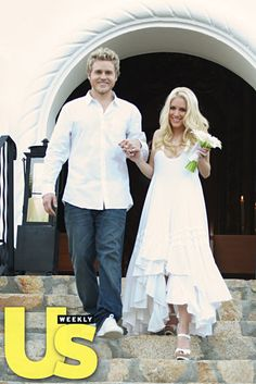 """The Hills"" stars Heidi Montag and Spencer Pratt married in a secret ceremony in Cabo San Lucas, Mexico on November 19, 2008."