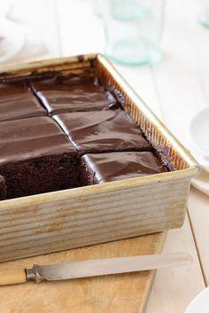 King Arthur Flour's Original Cake Pan Cake Recipe:  pretty good.  Next time would like to make half (about 6 cupcakes).