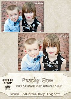 CoffeeShop Actions - Peachy Glow