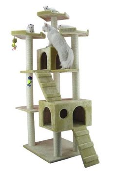 Whether they are just releasing some energy, looking for a place of solitude, or just showing off, your cat will certainly make use of a cat tree to take advantage of that vertical space. These trees provide the cat comfort, a level of safety, and a place they can simply have fun.
