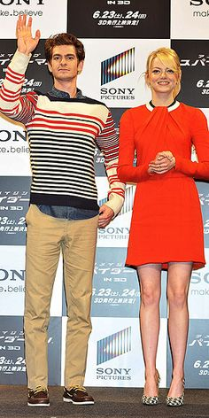 JOINED AT THE HIP IN JAPAN photo   Andrew Garfield, Emma Stone