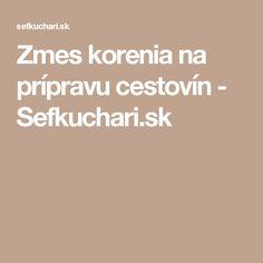 Zmes korenia na prípravu cestovín - Sefkuchari.sk