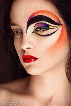 Creative eye make-up art; Make Up Art, Eye Make Up, Crazy Makeup, Makeup Looks, Circus Makeup, Carnival Makeup, Extreme Makeup, Fantasy Make Up, Fantasy Hair
