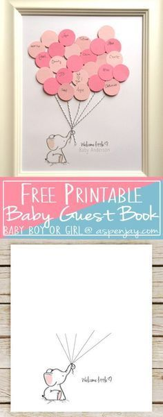 Elephant Baby Shower Guest Book Printable - Aspen Jay -   Free Elephant Baby Shower Guest Book Printable. SUPER cute! And you can even customize it! LOVE this!!! Definitely going to use this at the next baby shower I throw!   - http://progres-shop.com/elephant-baby-shower-guest-book-printable-aspen-jay/