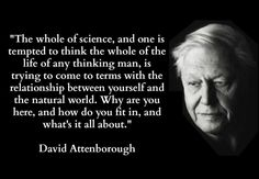 ---David Attenborough #science #man #world