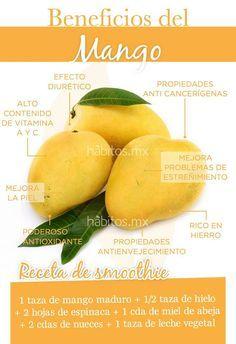 Beneficios del mango. Smoothie de mango. #hábitosmx #health #salud