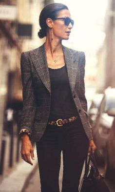 oh yes please Black Skinnys - Blazer - Leo Belt