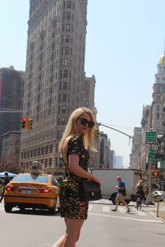 Caitlin Hartley of Styled American black and gold sequin dress http://styledamerican.com/glam-sheath-dress/