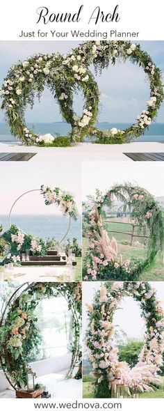 Green beautiful round   wedding arch for your big day#wedding #weddingarchwedding arch decorations |   arch decorations | pictures of wedding arches decorated | wedding arch   decorations