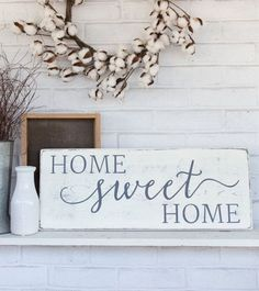115 Best Signs For The Home Images Door Wreaths Little Cottages