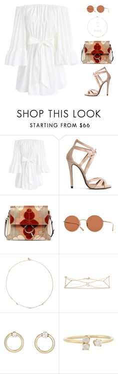 """Sin título #4838"" by mdmsb on Polyvore featuring moda, Chicwish, Marc Ellis, Chloé, Oliver Peoples y Loren Stewart"