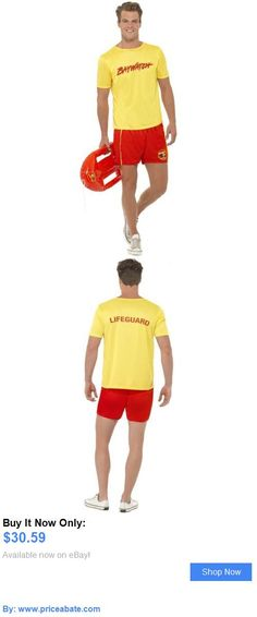 Men Costumes Lifeguard Costume Adult Baywatch Funny Halloween Fancy Dress BUY IT NOW ONLY  sc 1 st  Pinterest & Lifeguards | Fancy Dress | Pinterest | Lifeguard