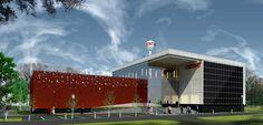 Koncepcja modernizacji elewacji budynków i strefy wejściowej oraz zagospodarowania terenu kampusu Państwowej Wyższej Szkoły Zawodowej we Włocławku