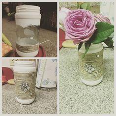 Mason jar paint and twine