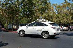 One of Google's self-driving fleet of autonomous vehicles.