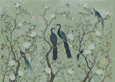 Edo Behang Coordonne - Core Behangpapier Collectie   Het Edo behang van Coordonne is een chinoiserie behang pur sang. Het ontwerp is van de hand vanLaura Torroba, die zich heeft laten inspireren ...