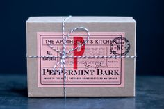 Peppermint Bark with Organic Candy Canes and by ApothecarysKitchen #packaging