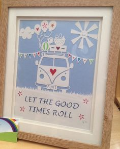 Let the Good Times Roll, campervan commercial papercutting template. By Claire's Papercuts