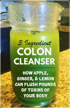 Colon Cleanse Detox Drink, Natural Colon Cleanse Detox, Detox Diet Drinks, Fat Burning Detox Drinks, Juice Cleanse, Cleanse Diet, Colon Cleanse Recipes, Liver Detox, Detox Tea