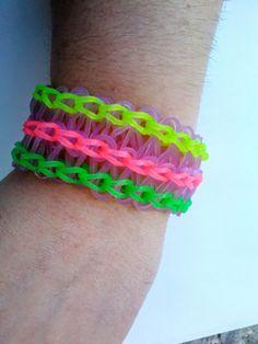 Pulseras de gomas I | Fabricando Arte Rainbow loom