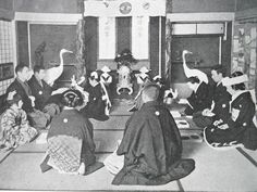 old marriage ceremony in Japan