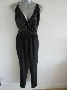 BNWOT grey ribbed jersey playsuit pyjamas pjs size  M fit 10 12