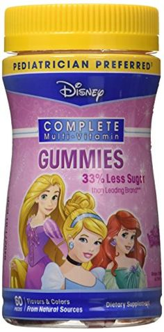 Disney MultiVitamin Princess Gummies (3-Pack) *** Click image for more details.