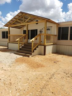We build custom barndominiums, custom homes, metal buildings, full ranch set up, skeetfields and much more. Mobile Home Porch, Mobile Home Exteriors, Mobile Home Renovations, Mobile Home Makeovers, Remodeling Mobile Homes, Porches For Mobile Homes, Manufactured Home Porch, Double Wide Remodel, Front Porch Design