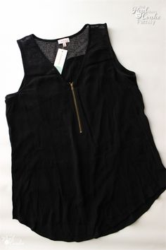 This is a really cute, slightly edgy tank. I think I could rock it this fall/winter. - Sara #FixedOnFall