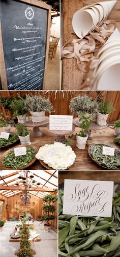 I'm crazy about the earthy vibe of this Santa Ynez wedding. The use of herbs is just heavenly, and the bride's veil is gorgeous.