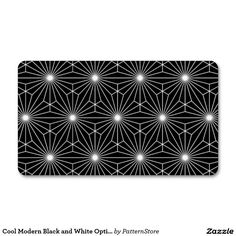 Cool Modern Black and White Optical Illusion Double-Sided Standard Business Cards (Pack Of Cool Business Cards, Business Card Design, Graphic Patterns, White Patterns, Leather Texture, Optical Illusions, Vintage Prints, Stationery, Things To Come