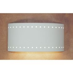 Clear Satin Paros Fluorescent Flush Wall Sconce - (In Clear Satin)
