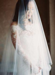 Gorgeous veiled photo: http://www.stylemepretty.com/2015/09/04/pink-sonoma-vineyard-wedding/ | Photography: Clary Pfeiffer - http://claryphoto.com/