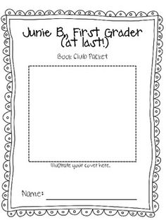 junie b jones first grader at last book club packet re - Junie B Jones Coloring Pages