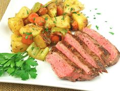 Shortcut Pot Roast with Roasted Vegetables and Pan Sauce