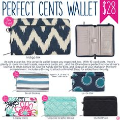 Thirty-One Perfect Cents Wallet - Spring/Summer 2017