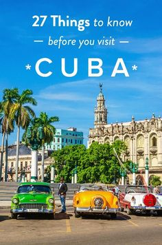 Cuba Travel Tips - 27 Things You Need to Know Before You Visit! Is a visit to Cuba on your bucket list? Here are 27 things to know about Cuba before you plan to visit Cuba in Central America Oh The Places You'll Go, Places To Travel, Travel Destinations, Travel Guides, Travel Tips, Travel Hacks, Cuba Travel, Italy Travel, Dc Travel