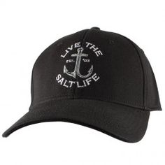 e4b4a034 Anchored Stretch Fit Hat Salt Life Shirts, Fitted Caps, Surf Outfit, Men  Beach