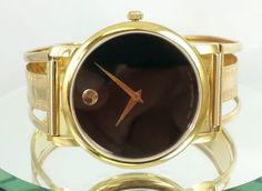 Movado Museum Mens Watch Custom Made With 18k Gold Bracelet #Movado #Luxury #watches
