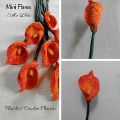 Mini Flame Calla Lily - Crochet creation by Flawless Crochet Flowers