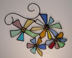 Stained Glass Flower Garden For Your Window. $40.00, via Etsy.