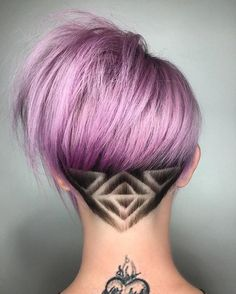 Funky Geometric - Undercut Hair Designs For The Most Bold And Badass Ladies - Photos