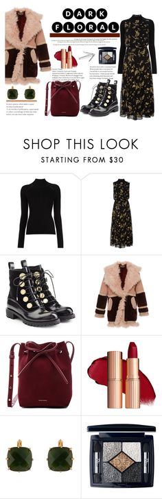 """Dark florals"" by city-love-fashion ❤ liked on Polyvore featuring Misha Nonoo, SUNO New York, Alexander McQueen, Roberto Cavalli, Mansur Gavriel, Les Néréides, Christian Dior and darkflorals"