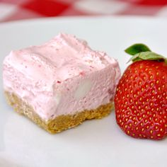 Strawberry Chiffon Squares (from Rock Recipes)