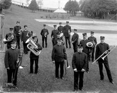Band on the Grand Hotel grounds ca. 1900 by William H. Gardiner.