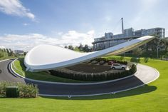 Autostadt Roof and Service Pavilion by GRAFT - #architecture #wolfsburg #germany