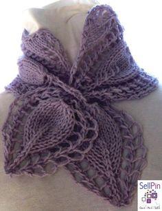 $6.00: knitting pattern lace knit cowl scarf pdf knitting pattern cowl scarf neckwarmer - Victorian Rose PDF Hand Knitting Patt