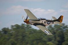 P-51D Mustang enters the air show box at Thunder Over Michigan 2012